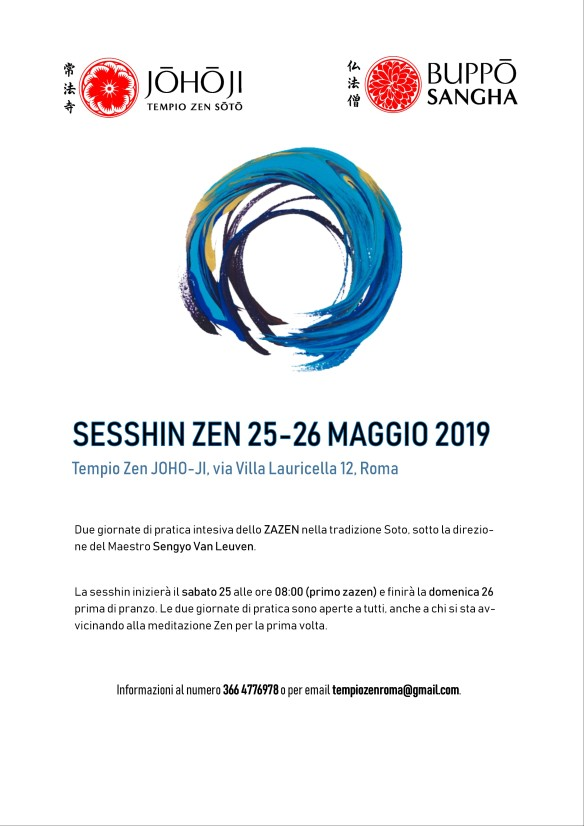 flyer sesshin zen maggio 2019