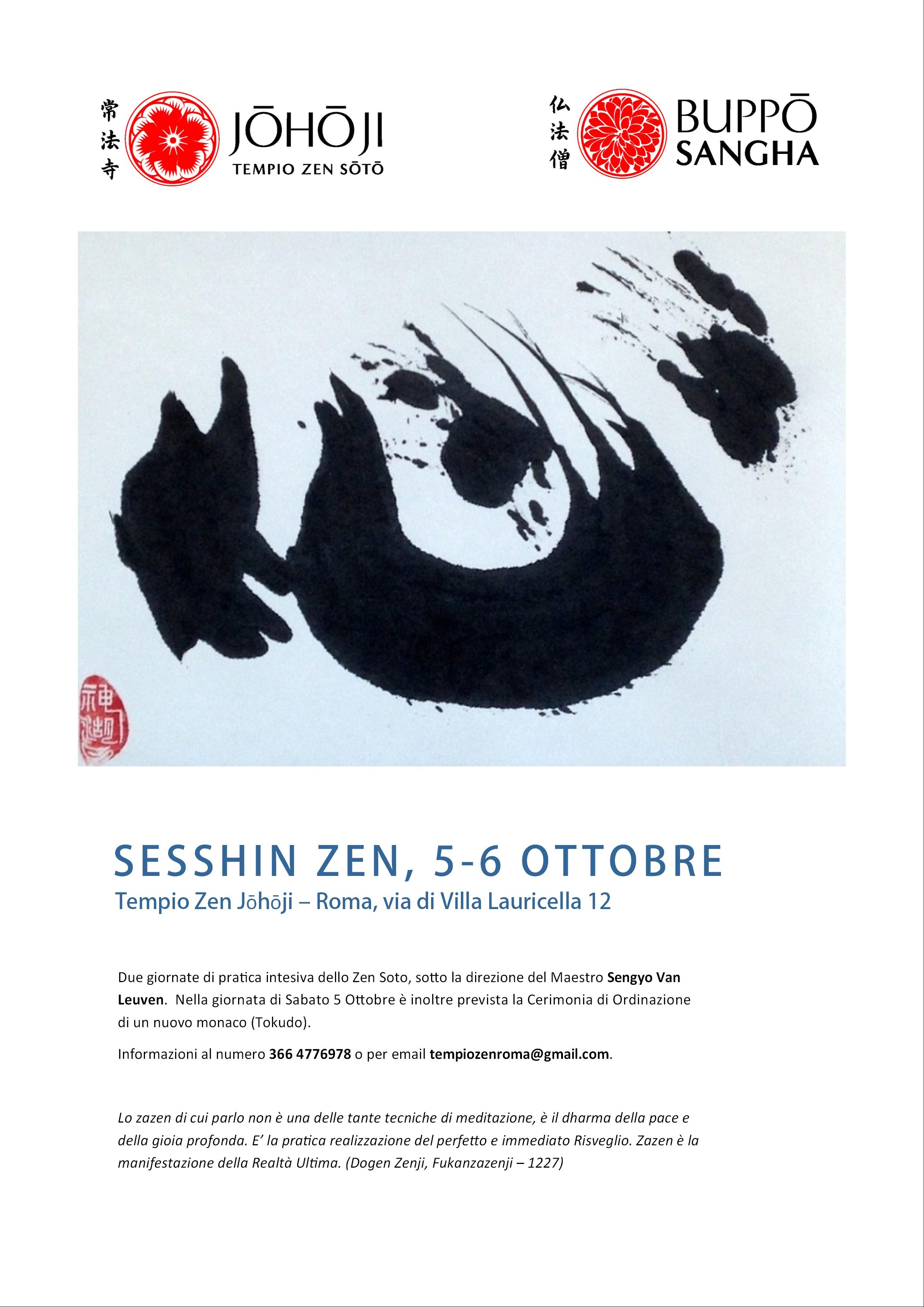 sesshin zen roma ottobre 2019