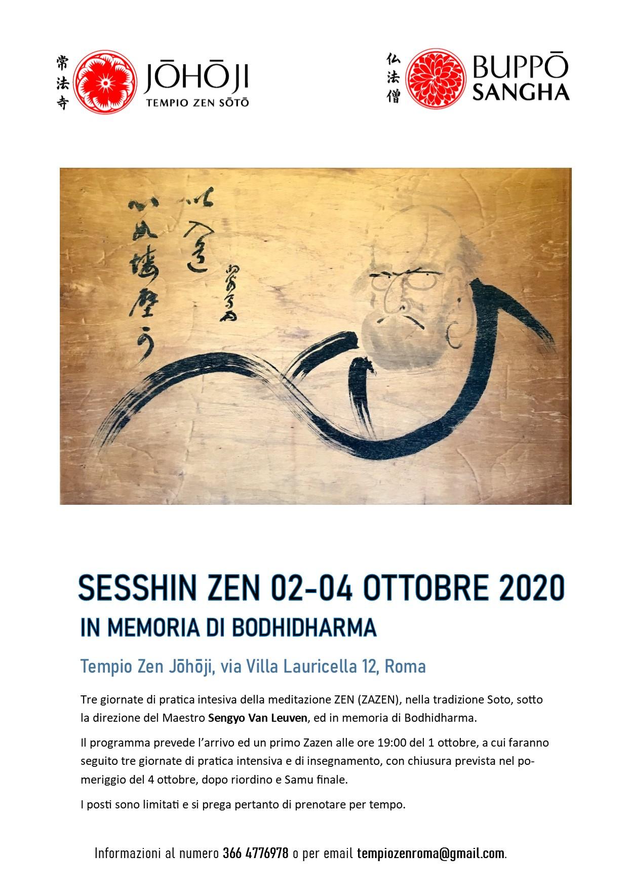 johoji sesshin zen zazen ottobre 2020